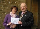Cheque Presentation (Derek Nevell) to Macmillan