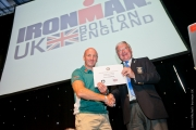 Top Individual Fundraiser Dave Anderson, Ironman UK Bolton with Colin Ince, Rotary District 1280 Governor – July 2012