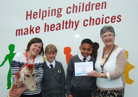 2013 Ironman UK - Cheque Presentation to Life Education