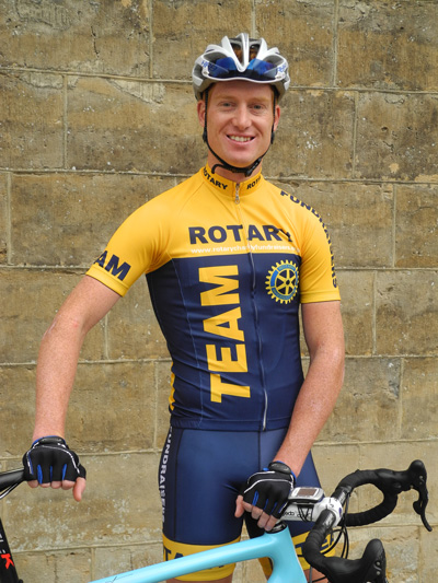 Jack Adams in the Team Rotary Cycling Jersey and Shorts