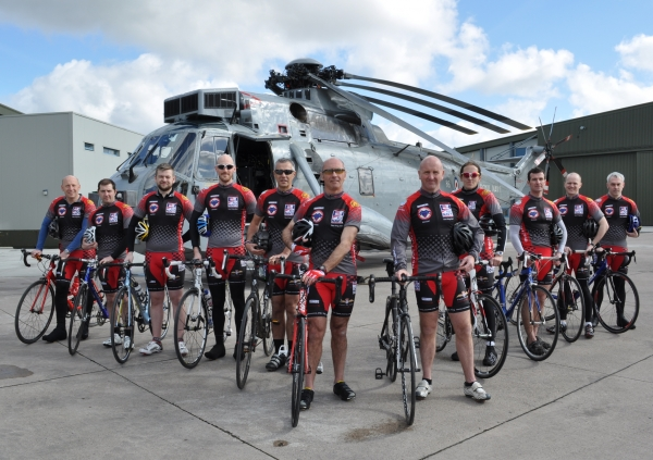 'Red Rats' Charity Cycle Team from 849 Naval Air Squadron Honour their Fallen Comrades